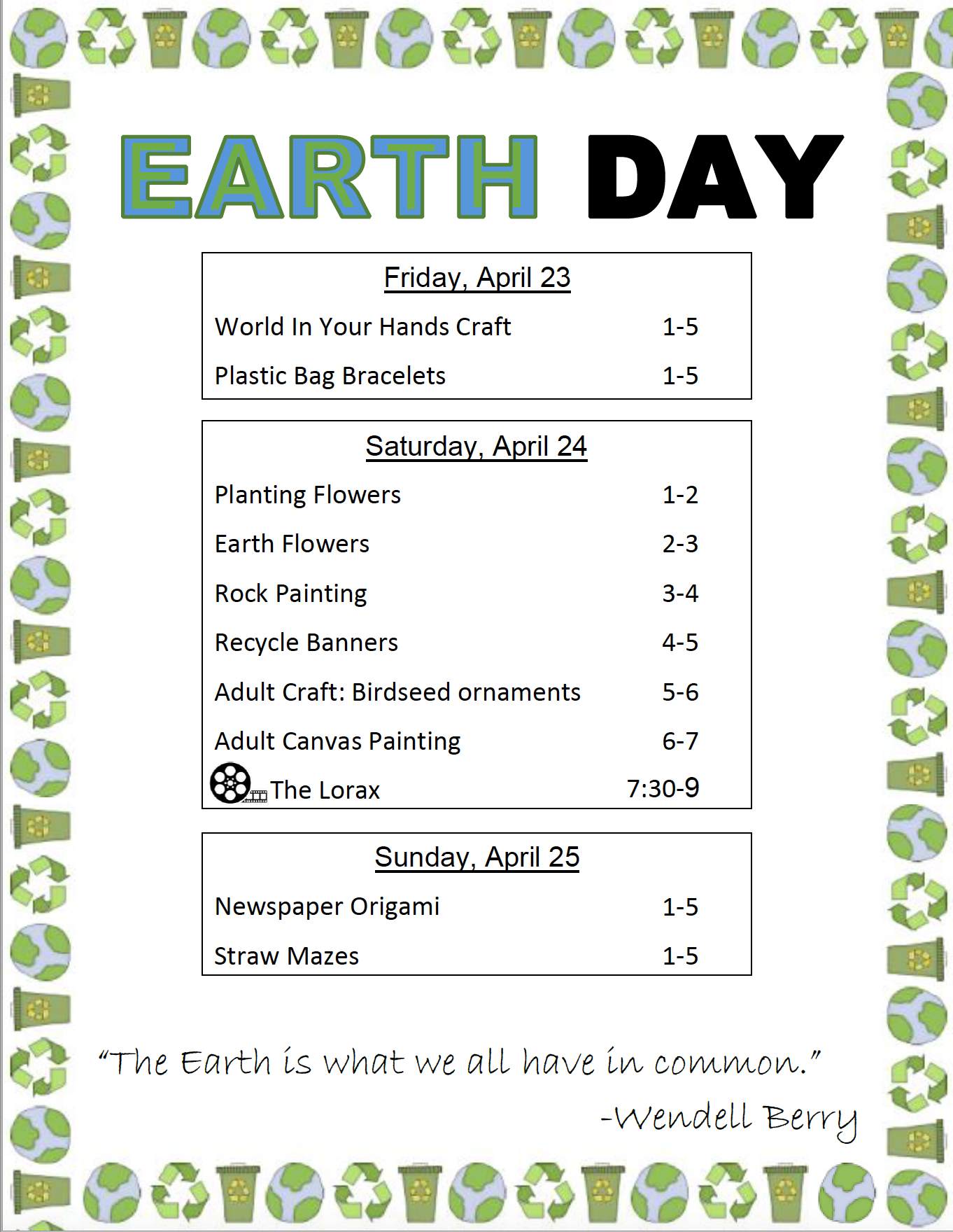 Earth Day VOR 2021
